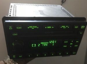 2004 05 Oem Ford Explorer Mountaineer Radio Am Fm 6 Disc 4l2t 18c815 Ce