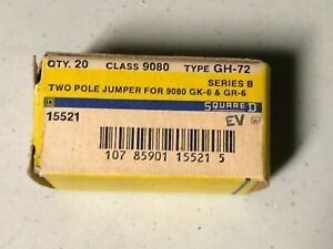 19 Pieces 2 Pole Square D Terminal Block Din Jumper Jumpers Gh 72 9080