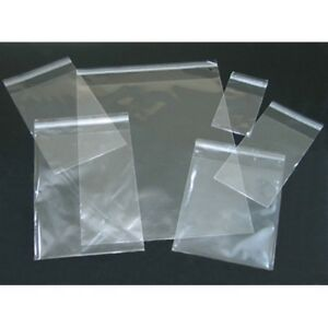 100pc Clear Poly Cello Bags Large Small Plastic Packaging Resealable Candy Store