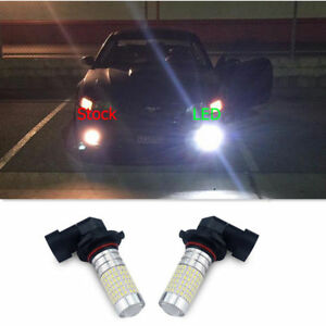 2x 2800lm 144 Led 9005 Hb3 Drl Fog Light Bulb White Car Lamp For Ford Chevrolet