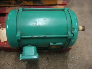 10 Hp Baldor Three Phase Electric Motor Tefc 1725 Rpm 230 460 Volts 26 13 Amps