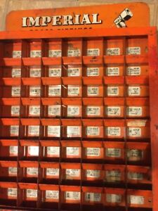 Vintage 1950s Imperial Brass Fittings Hardware Store Display Case
