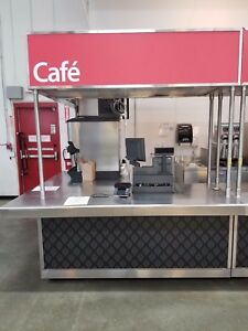 Custom Pizza Cafe Mobile Retail Vending Kiosk Center Food Vending Cart