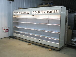 Barker 12 Open Air In Line Refrigerated Multi Deck Grocery Display Case Cooler