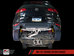 Awe Tuning 2015 2017 Vw Gti Mk7 Touring Catback Exhaust System With Black Tips