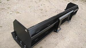 Linville 8ft Snow Pusher Skid Steer
