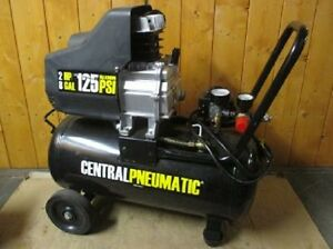 2 Hp 8 Gal 125 Psi Portable Oil Lube Portable Air Compressor Warranty Fedex