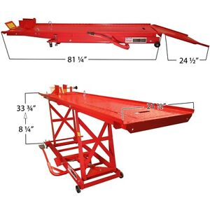 1 000 Lb 1 2 Ton Capacity Motorcycle Lift Table Jack Stand