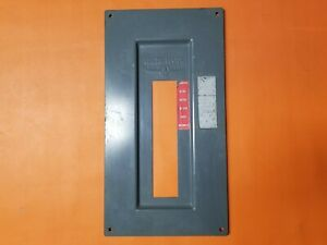 Used 100 Amp Pushmatic Electri Center Panel Cover 12 Space