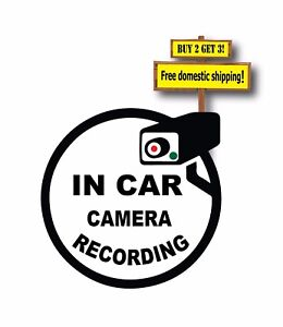 Camera Security System Recording In This Vehicle Decal Sticker 3 25x3 25 P133