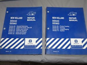 New Holland Bb940 Bb960 Square Baler Service Repair Manual Set 2000
