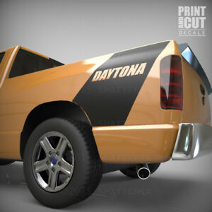Daytona Dodge Ram 1500 Bed Side Racing Rear Stripe Vinyl Decal Sticker Ds001