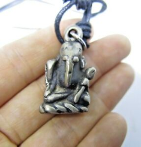 Pendant Ganesh Ganesha Hindu God Amulet Ganapati Vinayaka Success Necklace Lotus