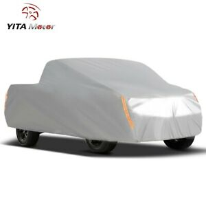 Pickup Truck Car Cover Breathable All Weather Protection Scratch Rain Resistant