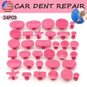34x Pdr Glue Puller Tabs For Auto Car Body Hail Paintless Dent Repair Tool Us