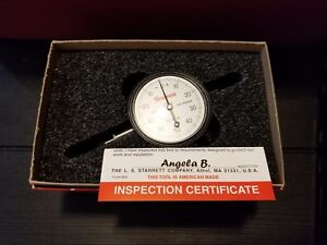 Starrett 25 141j Dial Indicator Agd 2 2 250 Dial Size 0 To 0 250 Range