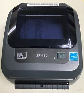 Zebra Zp450 Thermal Label Printer Barcode Usb Serial With Cables Grade A