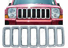 Iwcgi 24 2005 2011 Jeep Commander Grille Overlay Promaxx Chrome Plated New