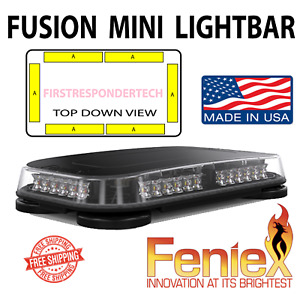 Feniex Fusion Led Mini Lightbar Amber Snow Plow Construction Permanent Mount