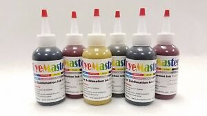 Dyemaster Sublimation Ink 6 color Combo Pack 4 Oz 120ml X 6 Bottles