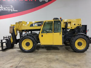 2011 Cat Caterpillar Tl1055 10000lb Pneumatic Telehandler Diesel Cab W Heat