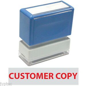Customer Copy Jyp Pa1040 Pre inked Rubber Stamp red Ink