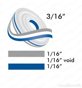 3 16 X 150 Double Line Two Color Vinyl Graphics Stripe Pinstripe Roll Pin