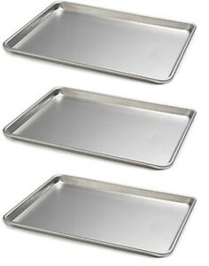 Commercial Half Size Sheet Pans Bakery Home Baking Set Of 3