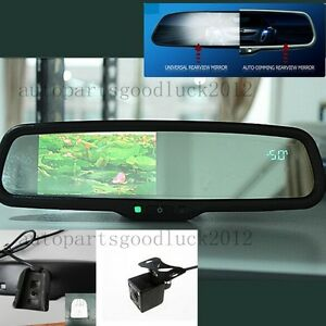 Auto Dimming Mirror 4 3 Lcd Compass Temp Camera Fit Ford Toyota Nissan Honda Kia
