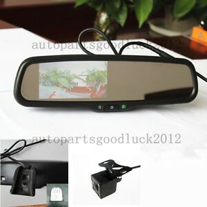 Normal Car Rearview Mirror 4 3 Lcd Camera Fit Ford Toyota Nissan Honda Dodge Kia