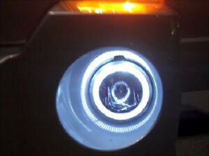 Halo Fog Lamps Angel Eye Driving Lights Kit For 2007 2008 2009 2010 Jeep Patriot