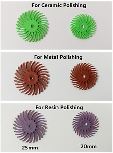Dental Composite Spiral Finishing Polishing Discs Wheel 20 25mm Metal Resin
