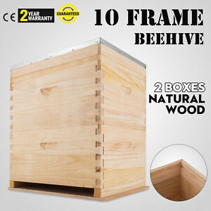 Langstroth Bee Hive 10 Frame 1 Medium 1 Deep Box Free Shipping