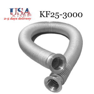 Bellows Hose Metal Kf 25 118 11 Inch Iso kf Flange Size Nw 25 Stainless Steel