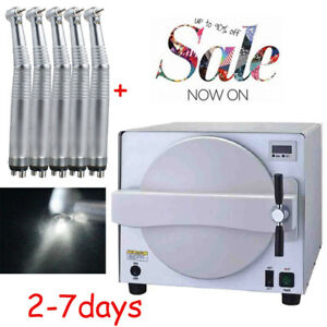 Medical Dental Autoclave Steam Sterilizer Sterilizition Autoclaves 5 Handpiece