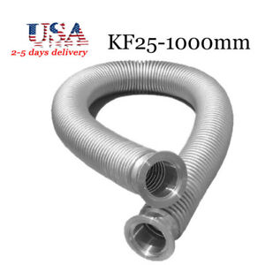 Bellows Hose Metal Kf 25 39 37 Inch Iso kf Flange Size Nw 25 Stainless Steel