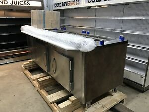 Amtekco Remote Grocery 8 Sandwich Prep Station Refrigerated Make Line Table 96