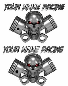 Large 2 set Custom Name Truck Trailer Motorcycle Graphics Decals Stickers Racing