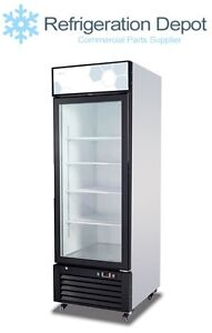 Migali C 23rm Glass Door Merchandiser Single Door Refrigerator 23 Cu ft