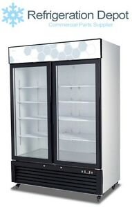 Migali C 49rm Glass Door Merchandiser Two Door Refrigerator 49 Cu ft
