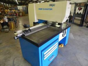 Pierce all Perf o mator 30 Ton Punch Press With Dies And Sliding Guide