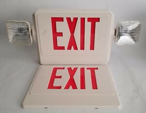Emergency Exit Sign Lighting Led Contractor Friendly Thermoplastic Double Sided