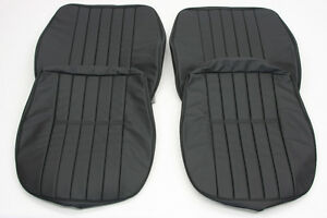 Porsche 356 A B C Coupe Cabriolet Roadster Leather Front Seat Cover Set