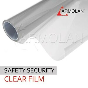 Safety Protection Window Film 60 X 100ft 12 Mil Clear