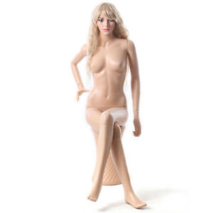 Mn 440 Female Plastic Sitting Mannequin With Pedestal