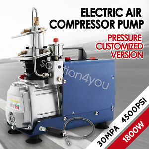 110v 30mpa Air Compressor Pump Pcp Electric High Pressure System Good Item Us
