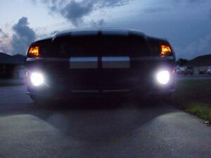 Halo Fog Lamps Driving Lights Kit For 2005 2012 Ford Mustang Shelby Gt500 Bumper