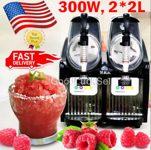 2l 2 Mini Margarita Slush Frozen Drink Machine 300w Slushy Making Machine Usa