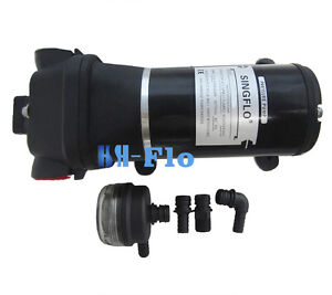 Hsh flo Electric Diaphragm Water Pump 12 V Dc 40 Psi 4 5 Gpm High Pressure Water