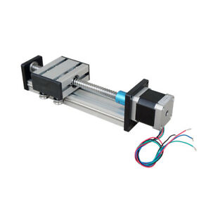 Ball Screw Linear Cnc Slide Stroke 100mm 300mm Long Stage Actuator Stepper Motor